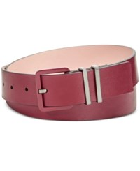 Calvin Klein Flat Strap Double Keeper Harness Belt Oxblood