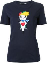 Love Moschino Doll Patch T Shirt Blue