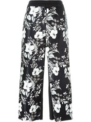 I'm Isola Marras Cropped Floral Print Trousers Black