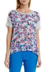 Women's Two By Vince Camuto 'Garden Cluster' Print Burnout Tee
