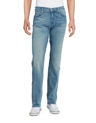 7 For All Mankind Austyn Relaxed Straight Jeans Blue