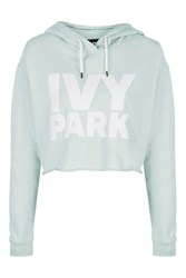 Ivy Park Cropped Logo Detailed Hoodie By Mint