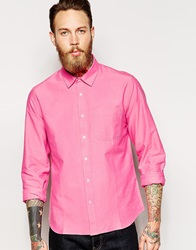 Ymc Button Down Shirt Long Sleeve Pink