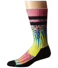 Stance Frondo Pink Men's Crew Cut Socks Shoes