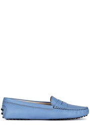 Tod's Gommino Light Blue Leather Driving Shoes