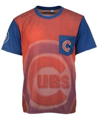 Forever Collectibles Men's Chicago Cubs Pocket Sublimated T Shirt Red Royalblue