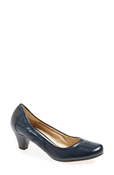 Naturalizer 'Stargaze' Round Toe Pump Women Navy