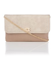 Juno Taupe Fold Over Clutch Bag