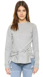 Cheap Monday Curie Sweatshirt Grey Melange