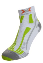 X Socks Run Speed Two Sports Socks White Green Lime