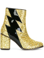 House Of Holland Glitter Effect Thunder Boots Yellow And Orange