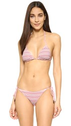 Eberjey Heart Gisele Triangle Bikini Top Canyon Rose