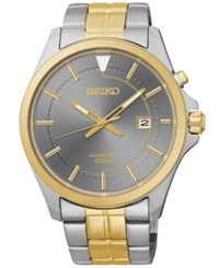 Seiko Men's Kinetic Two Tone Stainless Steel Bracelet Watch 42Mm Ska582