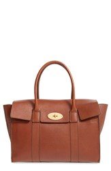 Mulberry 'Bayswater' Grained Leather Satchel Brown Oak