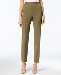 Alfred Dunner Pull On Straight Leg Pants Olive