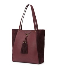Frye Clara Leather Tote Wine