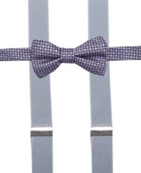 Alfani Spectrum Washington Neat Pre Tied Bow Tie And Suspender Set Only At Macy's Purple