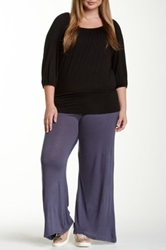 24 7 Comfort Solid Palazzo Pant Plus Size Gray
