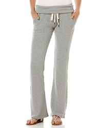 Candc California French Terry Fold Over Pants Heather Grey