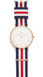 Daniel Wellington Canterbury 40Mm Watch With Nato Strap Rose Gold