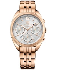 Tommy Hilfiger Women's Rose Gold Ion Plated Stainless Steel Bracelet Watch 38Mm 1781487