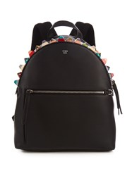 Fendi Embellished Leather Backpack
