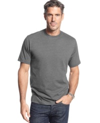 John Ashford Short Sleeve Crew Neck Solid T Shirt Charcoal Heather