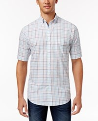 Club Room Men's Plaid Shirt Only At Macy's Bright White