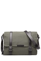 Marc By Marc Jacobs Cotton Messenger Bag With Leather Green