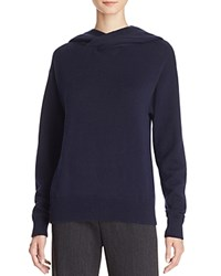 Vince Hooded Sweater Dark Blue