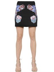 Stella Mccartney Embroidered Stretch Cady Mini Skirt