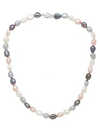 Honora Style Multi Color Freshwater Pearl Necklace Pink Grey White