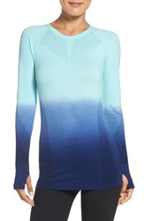 Climawear Women's Dip Dye Long Sleeve Top Aruba Blue Depths Dip Dye