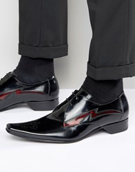Jeffery West Pino Leather Derby Shoes Black