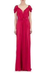 Alberta Ferretti Draped Chiffon Gown Multi Size 44 It