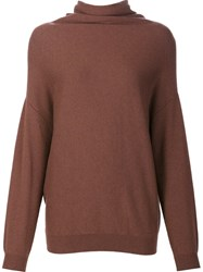 Brunello Cucinelli Turtleneck Jumper Brown