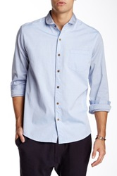 Vanishing Elephant Collar Oxford Shirt Blue