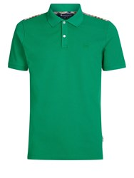 Aquascutum London Hill Club Check Polo Evergreen