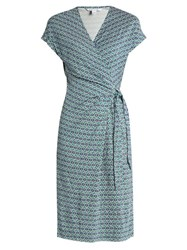 Diane Von Furstenberg Sascha Dress Green Multi