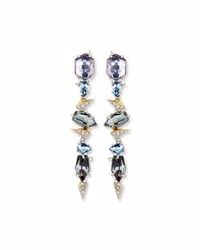 Alexis Bittar Crystal Mosaic Lace Dangle Earrings