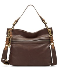 Fossil Explorer Leather Hobo