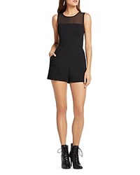 Bcbgeneration Illusion Yoke Romper Black