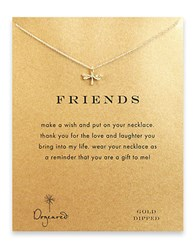 Dogeared Dragonfly Charm Necklace Gold