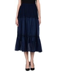 Just For You Skirts Long Skirts Women Dark Blue