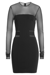 Alexandre Vauthier Mini Dress With Sheer Inserts Black