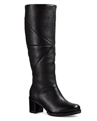 Ugg Avery Leather And Sheepskin Tall Boots Black