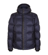 Brioni Quilted Puffer Jacket Male Navy