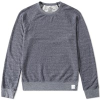 Save Khaki French Terry Crew Sweat Blue