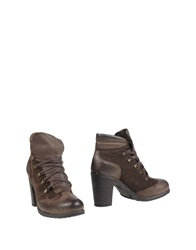 Pons Quintana Ankle Boots Dark Brown