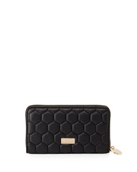 Deux Lux Quilted Honeycomb Wallet Black
